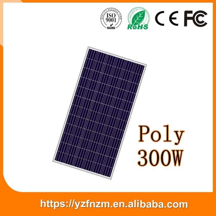popular 2017 solar panel 300w poly for off grid ,grid tie system