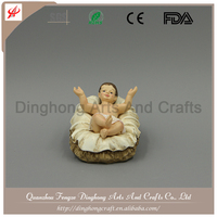 Factory OEM Design Resin Fairy Figurines Wing Nativity Set