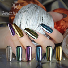 fengshangmei mirror powder nail pigment chrome colorful holographic pigment powder