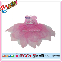 Wholesale girls role play princess wedding dress with tiara