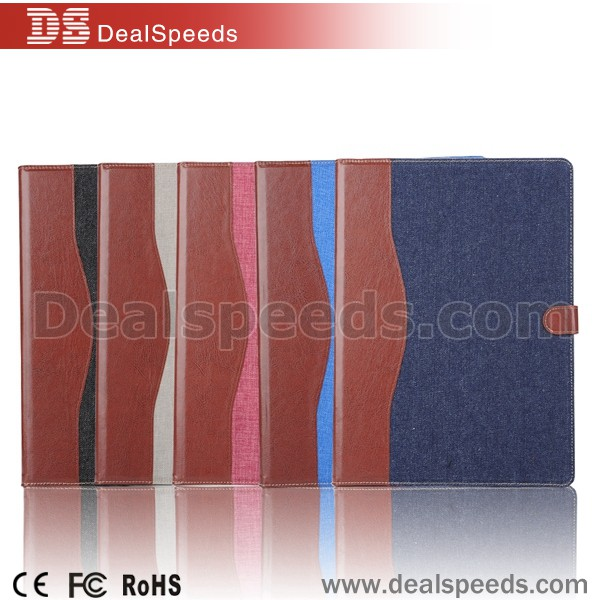 Genuine Wallet Flip Leather Cover for iPad Pro 12.9 Tablet Case