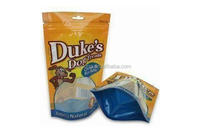 Ziplock Foil Dog Food Bag with Euro Hole, Zipper and Bottom Gusset
