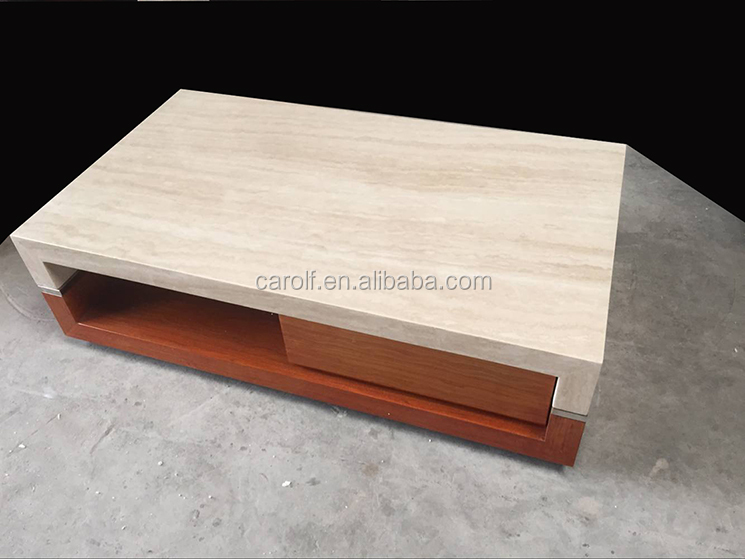 import walnut base white marble coffee tables from china