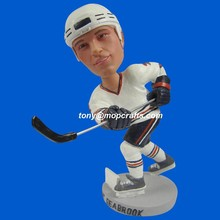 Polyresin customized bobble head of Ice hockey sporter