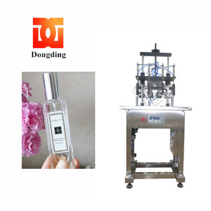 semi-automatic four heads/nozzles vacuum perfume filling machine/filling machinery