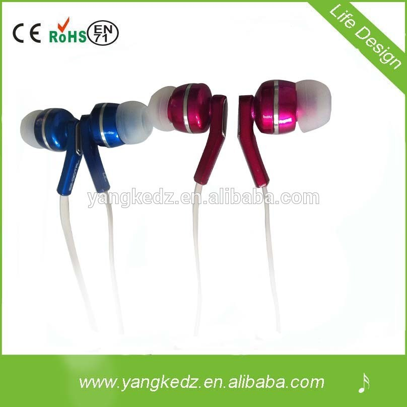METAL earphone, for apple ipod ipad MP3 MP4 Player in-ear earphones Stereo headphone Headset 3.5mm Jack Earbuds