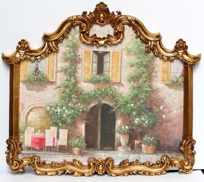 Made in China handmade french antique picture frame/oil painting frame