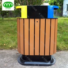 Outdoor Dustbin Wood Plastic Waste Bin Container Price