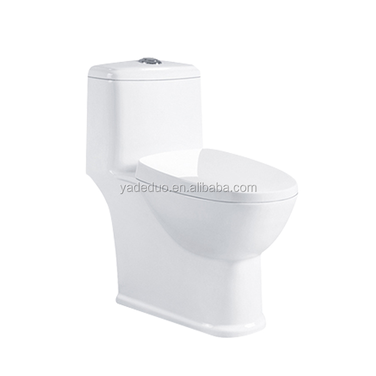 High quality ceramic sanitary ware siphon jet flushing one piece water closet lavatory water saving small toilet bowl