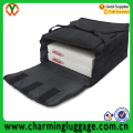 Thermal insulated heated black pizza delivery bag