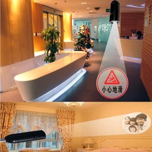 Hot Sale custom logo led <strong>projector</strong> spotlight Gobo Glass film logos ceiling wall floor spot lighting lamp advertising marking