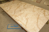 decorative PVC imitation marble sheet with UV coating