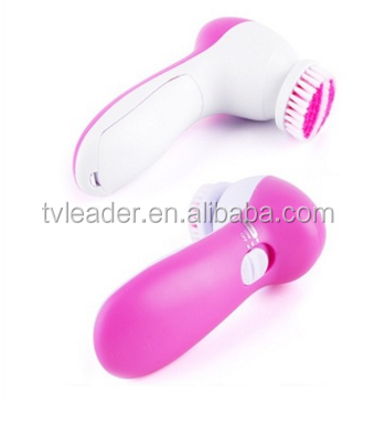5 in 1 Electric Facial Brush Cleanser ladier face cleansing spa magic face clean in your travel