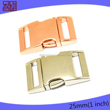Copper insert buckle for bags,quick release buckle wholesale,luggage strap buckle