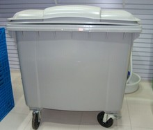Outdoor foot pedal dustbin,large plastic garbage bin