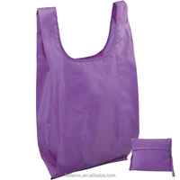 Polyester folding shopping bag, foldable polyester material shopping bag