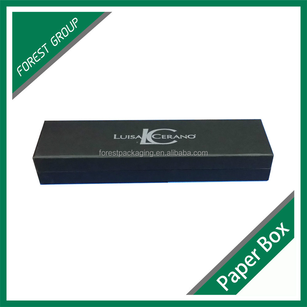 LUXURIOUS CUSTOM LONG BLACK CARDBOARD PAPER WATCH BOX