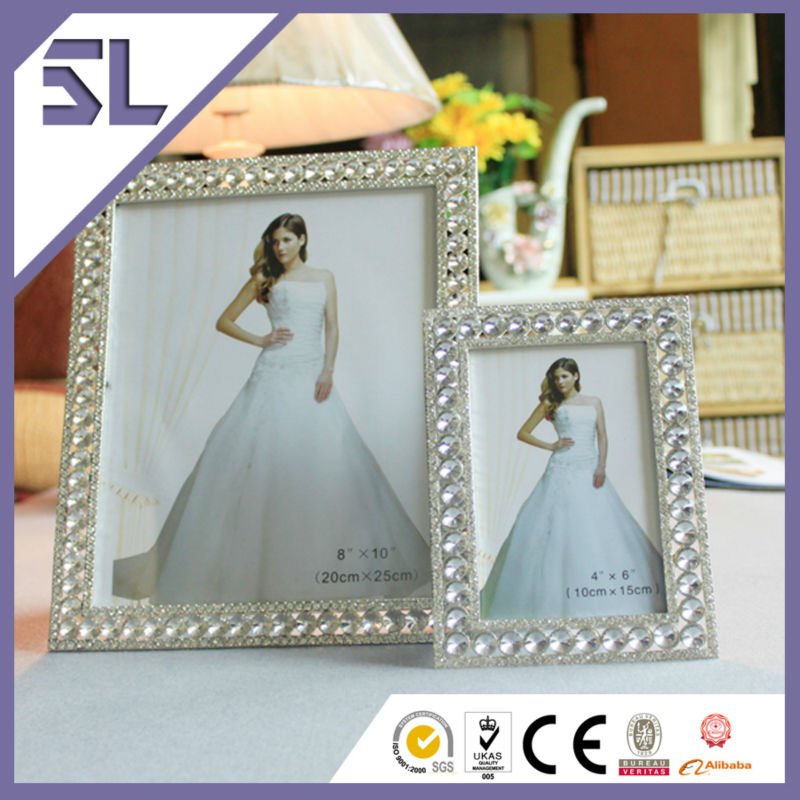 Wedding Photo Frames Photo Frame New Models Decorative Crystal Rectangle Shape Frame Toy Photo