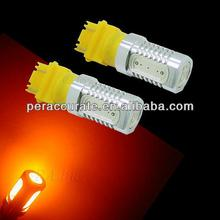 Yellow COB High Power T20 3157 LED For Automotive Automobile Car Brake Stop Lamp Bulb