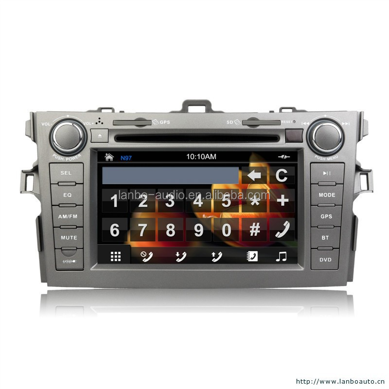 Android car multimedia for Toyota corolla DVD player with GPS radio bluetooth 3G WIFI japanese av dvd