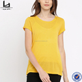 guangdong clothing make your own design yellow blank summer t-shirt women 100 cotton t-shirt