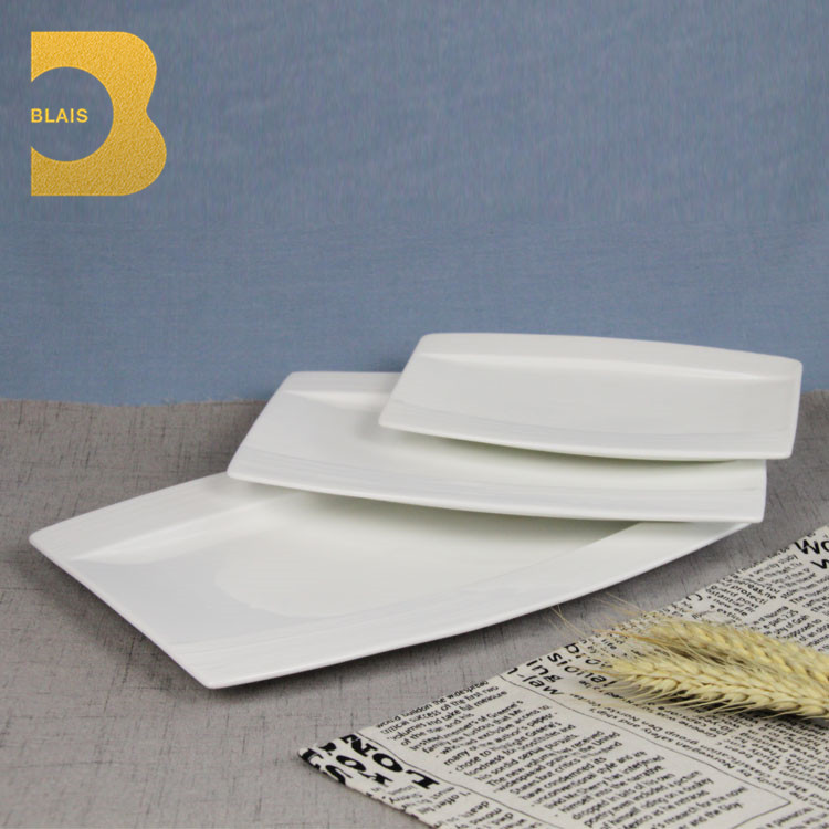 boat shape rect Hotel/restaurant/wedding/event/party porcelain dishes for restaurants