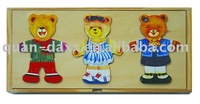 Bear Dress-Up Game Box, Bear Clothing jigsaw puzzle in Wooden Box