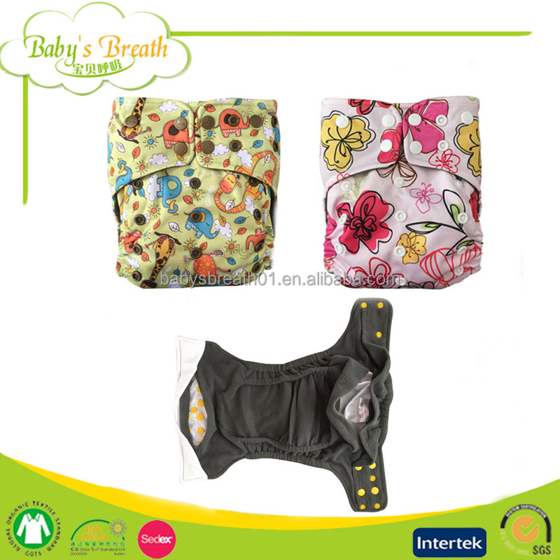 PCB-03 Fashion Cartoon Printed Charcoal Bamboo Liner Reusable Healthy Baby Adult Cloth Diapers
