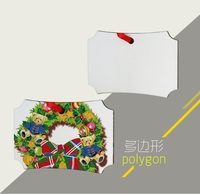 Diy christmas hanging ornament, custom made hardboard christmas tree ornament, printable MDF christmas ornament parts