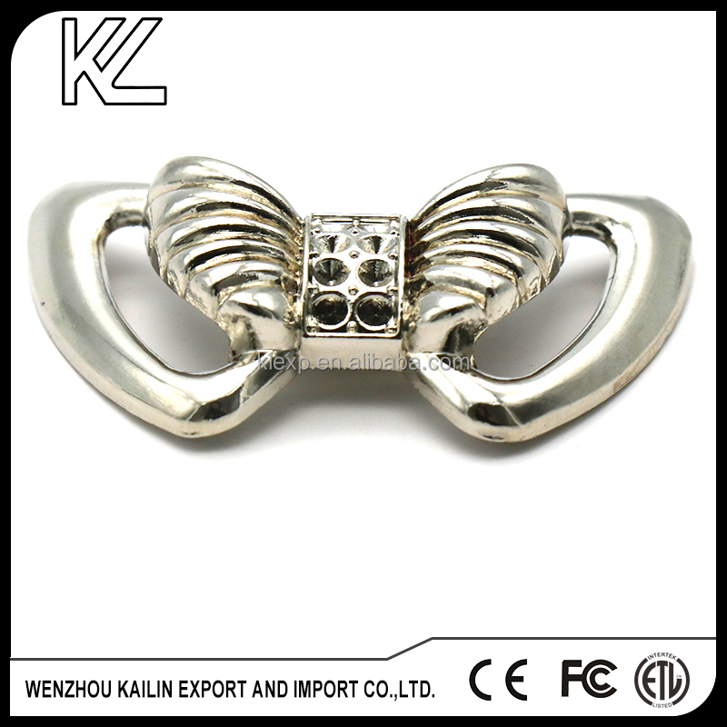 Butterfly decorative shoe accessories shoes buckle with high quality