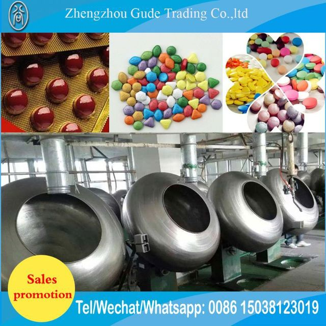 Large Capacity Bubble Chewing Gums Coating Machine Price For Sale