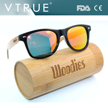 Woodies Bamboo Sunglasses Directly manufacturer Bamboo Eyeglasses with PC frame Polarized Fashion Sunglasses