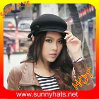 Wool felt girls newsboy cap cool and hot sale hats factory direct