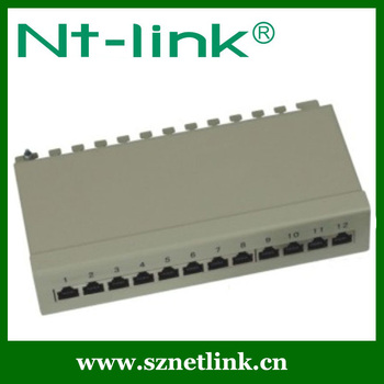 High Quality 12 port STP Cat6 wall mount patch panel 10 inch
