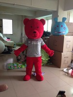 popular red adult care bear mascot costume