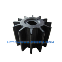 Customized anti-wear flexible flurry pump rubber impeller price