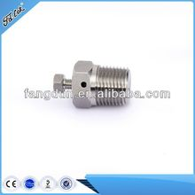 SS316 Tube Fittings, bleeding plug