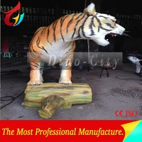 Realistic Life Size Animatronic Tiger Statue