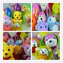 120mm mix style plush toys assembled capsule toy for surprise egg