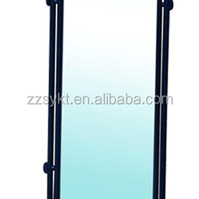 Rolling metal frame standing floor mirror cheval dressing vanity mirror