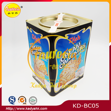 Cream crackers tin box for packing