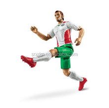 plastic football action figures/Design your own soccer player movable action figure/custom make miniature soccer toys figure