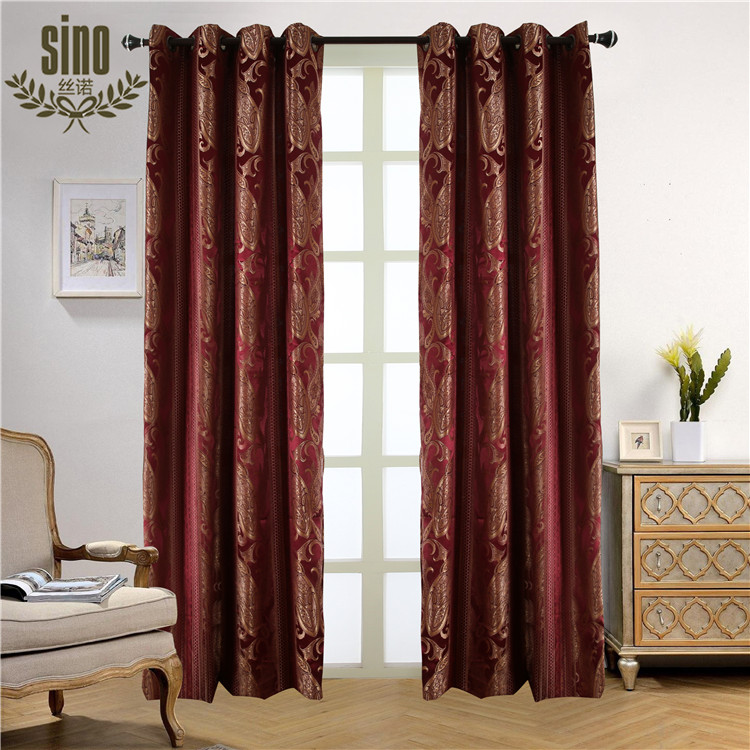Ready Made blackout ready made jacquard fabric curtain for living room