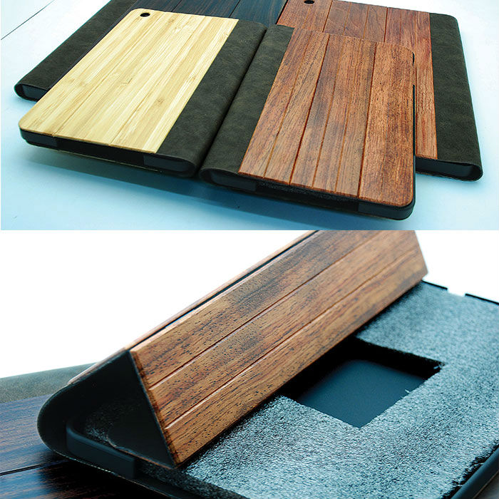 Eco-Friendly wooden for ipad 2 3 4 smart case wholesale