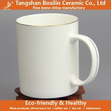 gold rimmed thin fine bone china coffee mugs accepted customized logos for wholesales