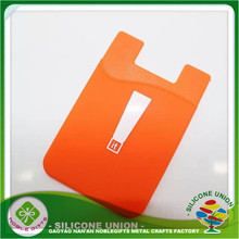 Wholesale high quality 3M Silicone Mobile Phone card holder,phone wallet