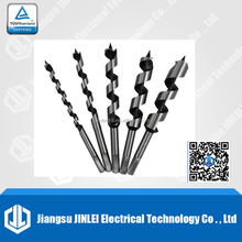 Durable custom black white wood brad point drill bits