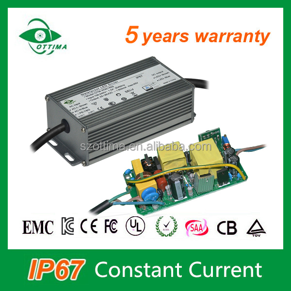 Constant current electronic waterproof LED power supply 80W led driver