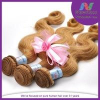 Fast delivery wholesale supplier hair weaving remy indian blonde hair extensions factory price