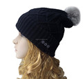 Langder Thick Crochet Unisex Winter Wireless Cap Hat Knit Pom Pom Beanie Winter Ski
